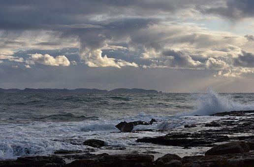 Clouds, Waves, Sea, Sky, Mediterranean