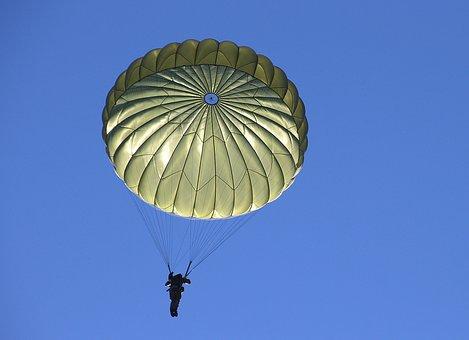 Parachute, Human, Fall, Sky, Skydiving, Military
