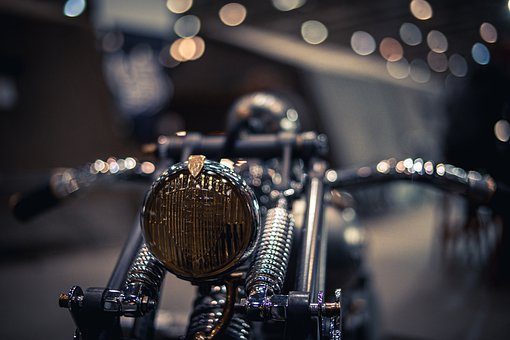 Motorcycle, Vintage, Bokeh, Retro, Classical, Style
