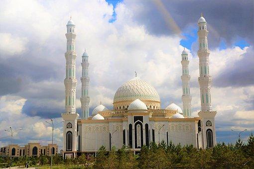 Cami, The Minarets, Dome, Architecture, City, Astana