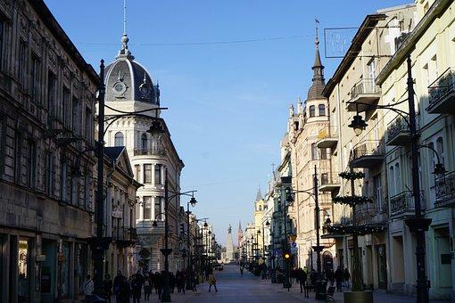 Poland, Boat, Piotrkowska Street, The Pedestrian Area