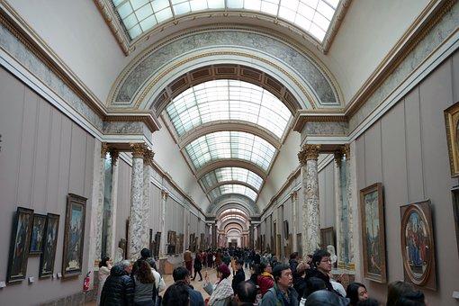 Museum, The Louvre, Indoor, Paris, France, Tourism