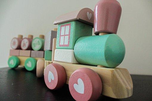 Train, Toys, Clogs, Locomotive, Children, Loco, Play