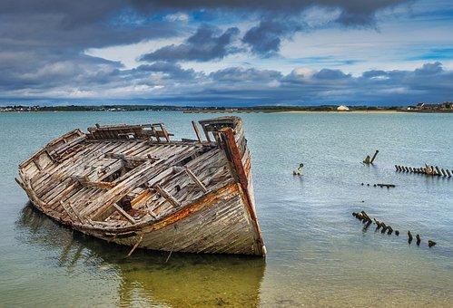 Peninsula Of Gâvres, Brittany, Morbihan, Wreck