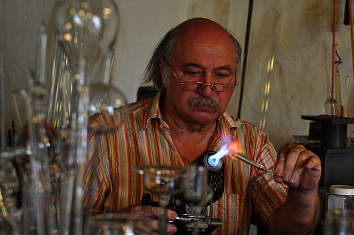 Glass Blower, Glass, Man, Alpirsbach, Flame, Work
