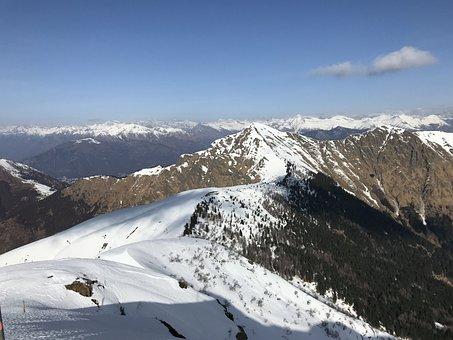 View From Mount Gradiccioli, Alpine Route, Alps, Alpine
