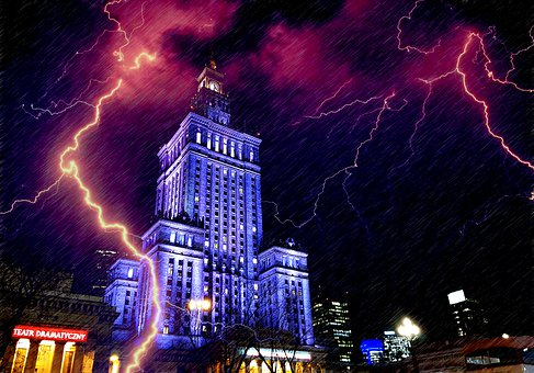 Palace Of Culture, Warsaw, The Centre Of, Architecture