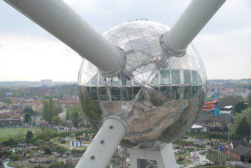 Brussels, Atomium, Belgium, Landmark, Ball, Building