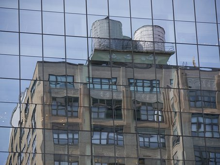 New York, Building, Reflection