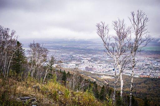 Fog, City, Valley, Sakhalin, At Home