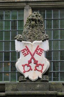 Coat Of Arms, Lead, Sculpture, Decoration