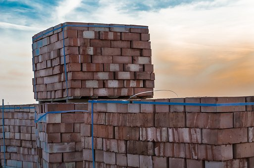 Brick, Stack, Construction, Objects, Material, Cube