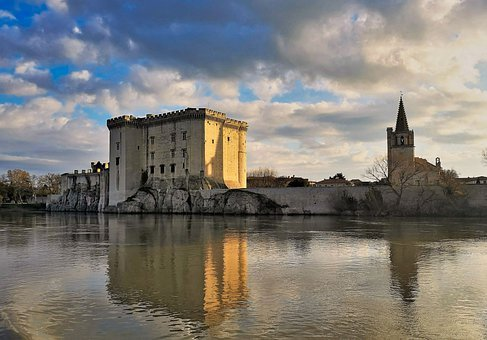 Castle, Rhone, France, River, Cruise, History