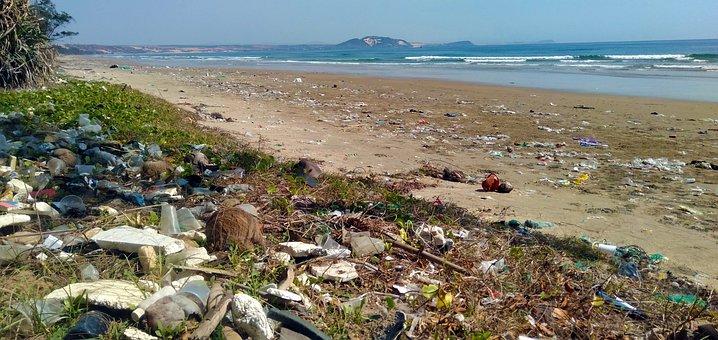 Pollution, Trash, Garbage, Ocean, Plastic, Waste