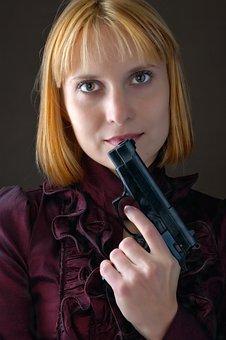 Girls, Gun, Safety, Hand, Danger, Firearm, Target