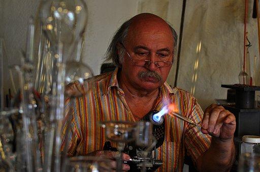 Glass Blower, Glass, Man, Alpirsbach