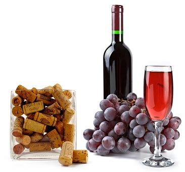 Wine, Glass, Alcohol, Traffic Jams, Grapes, Bottle