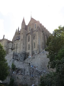 Mont Saint-michel, Cathedral, Church, Normandy, France