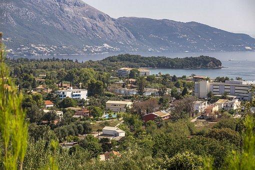 Corfu, Greece, Landscape, Port, Shore, Nature, Sea
