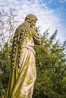 Statue, Patron Saint, Pregnant, Poor