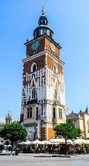 Krakow, Poland, Tower, Brick, Facade, Brick Facade