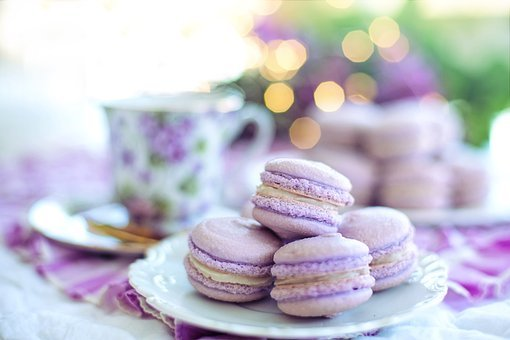 Macarons, Purple, Easter Brunch, Easter, Sweets