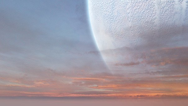 Extraterrestrial, Landscape, Space, Planet, Clouds