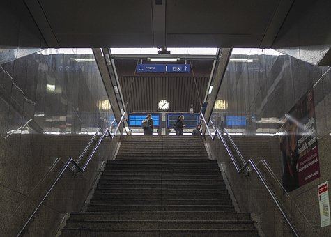 Architecture, Stairs, Building, Urban, Railway Station