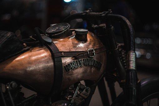 Harley, Steampunk, Vintage, Motorcycle, Retro, Grunge