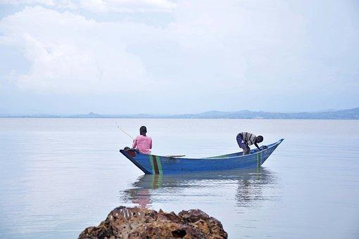 Fishing, Lake, Victoria, Fisherman, Fish, Water