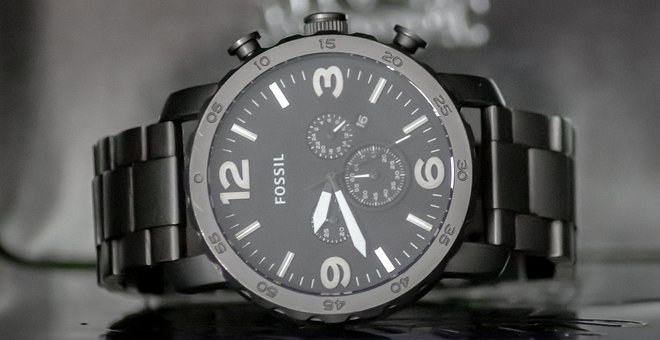 Fossil, Clock, Wrist Watch, Alarm Clock, Watch, Time