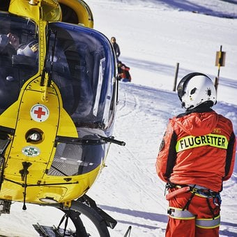 Ambulance Helicopter, Helicopter, Flying, Yellow