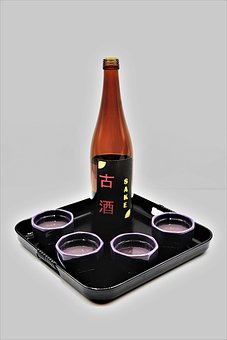 Sake, Tray, Drinking Vessels, Japan, Asia, Alcohol