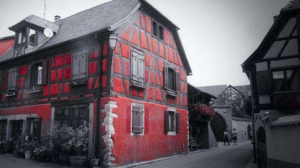 Color, Ferme, Alsace, Voyage, France, Tourism, Travel