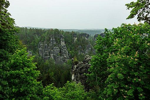 Bastei, Saxon Switzerland, Mountains