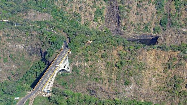 Victoria Falls, Bird's-eye View, Bridge, Africa
