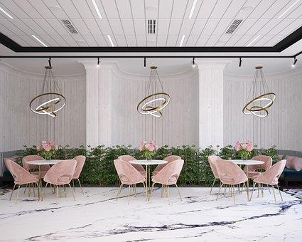 Dining Tables, Café, Restaurant, Interior Design