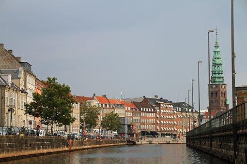 Copenhagen, River, Denmark, Architecture, City, Tourism