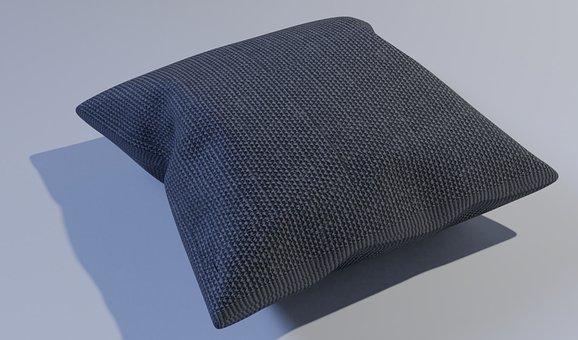 Cushion, 3d, Decoration, Modern