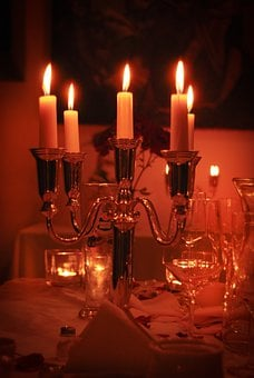 Dinner, Candle, Wedding, Light, Restaurant, Wine, Date