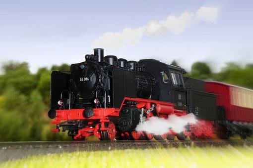 Steam Locomotive, Exit, Fast, Railway, Nostalgia
