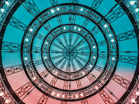 Clock, Blue, Time, Pointer, Industry, Gear, Face