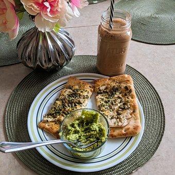 Flat Bread, Avocado, Guacamole, Vegan