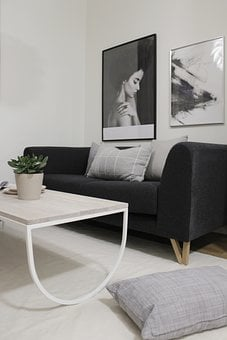 Sofa, Living Room, In, Home, Furniture, Interior