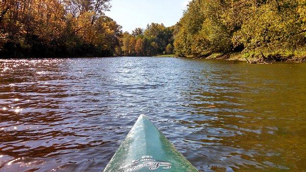 Creek, River, Kayak, Old Town