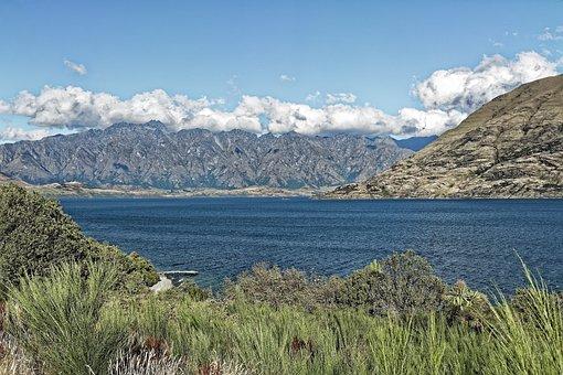 New Zealand, Lake Wakatipu, Lake, Water