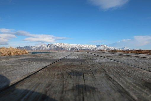 Iceland, Mountains, Sky, Landscape