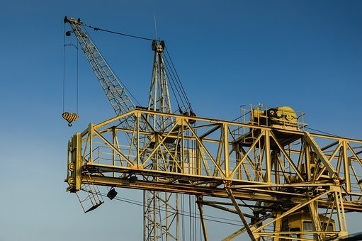 Machinery, Growth, Metal, City, Work, Hoisting