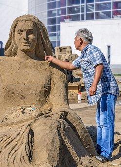 Create, Figure, Gritty, Hero, Human, Make, Man, Sand