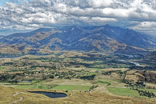 New Zealand, Wakatipu Basin, Mountains, Nature